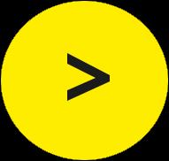 Gelber Kreis; in der Mitte eine nach links offene Klammer