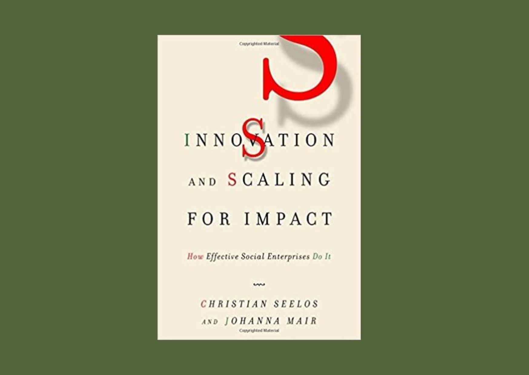 "Das Buchcover von ""Innovationn and Scaling"""