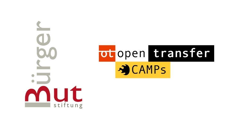 Logo der Stiftung Bürgermut sowie openTransfer
